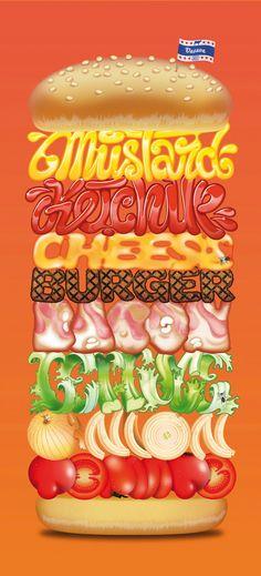 typographic burger