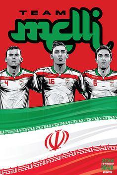 Iran, Team Melli (National Team), Jalal Hosseini, Reza Ghoochannejhad & Javad Nekounam, FIFA World Cup Brazil 2014