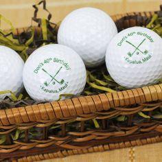 personalized golf balls, parti find, golf parti, 30th parti