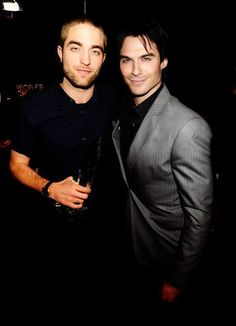 Robert and Ian. Be still my heart.