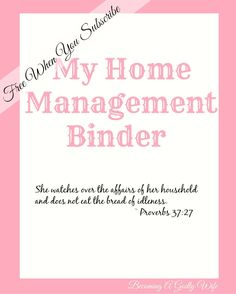 Finally a home management binder that has everything you need and it is now free with an email subscription.