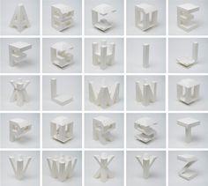 clever typographi, 4d type, abc, art web, lo siento