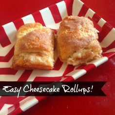 Easy Cheesecake Rollups with Cinnamon and Sugar! Easy Dessert Recipe for Thanksgiving and Christmas!