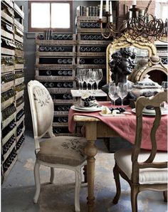 Wine Cellar / Dining Room of Lizzie Carney