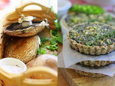 Golubka: Portobello Mushroom and Curried Spinach Quiche