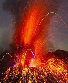 Explosion from Sakurajima volcano, Japan
