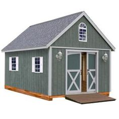 Best Barns Belmont 12 ft. x 16 ft. Wood Storage Shed with Three Windows Ramp and Floor included-belmont_1216p at The Home Depot