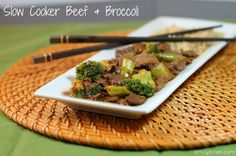 Emily Bites - Weight Watchers Friendly Recipes: Slow Cooker Beef & Broccoli - 8 Points+