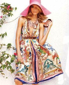Scarf pattern dress