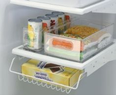 Refrigerator and freezer storage bins keep things corralled {featured on Home Storage Solutions 101}