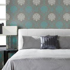 Couleurs tendance 2014 on pinterest bedroom accent for Decor papier peint mural