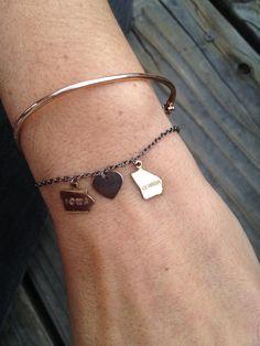 Long Distance State Friendship Bracelet.