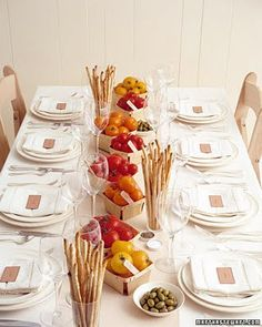 Rustic Tuscan summer table setting