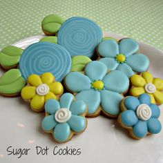 Sugar Dot Cookies: flower Cookies
