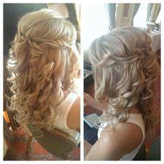 wedding day hair, hair idea