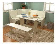 Corner Kitchen Table, Small Dinette Kitchen Bench Breakfast Nook and Table