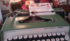 Brief typen op typemachine