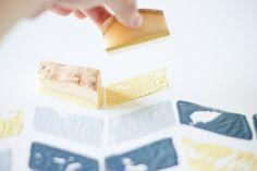 DIY Chevron Print Potato Stamps - Cute