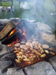 hot wings for the fire pit
