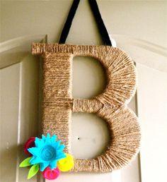 Twine Monogram Wreath