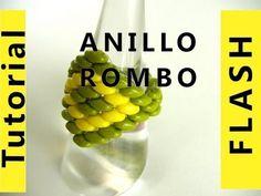 Abalorios DIY - Anillo Rombo con superduo - YouTube