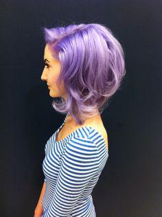 Lilac hair; cute cut