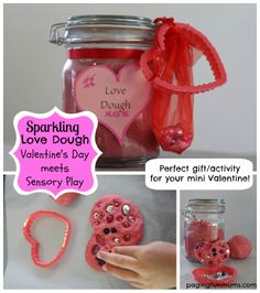Sparkling 'Love Dough' with Bling – perfect Valentine's Day activity or gift for kids!