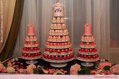 pink cupcake towers
