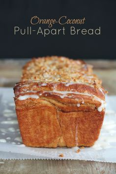 Orange Coconut pull-apart Bread - by The Professional Palate