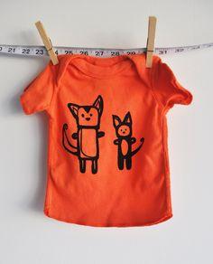 cat orange tshirt . $16.00, via Etsy.