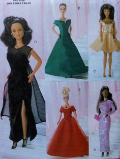 11.5 Fashion Doll Clothes Sewing Pattern