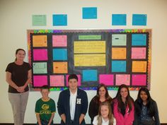 Student-created Box and Whisker Plot Bulletin Board
