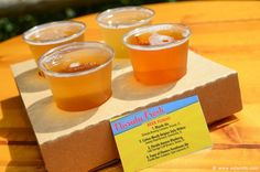 Beer Flight (Blonde Ale, Cottonmouth Belgian Style Witbier, Florida Avenue Blueberry, Feast of Flowers Farmhouse Ale) from Florida Fresh  The 2014 Epcot International Flower & Garden Festival http://www.wdwinfo.com/wdwinfo/guides/epcot/events/ep-flower-garden.htm