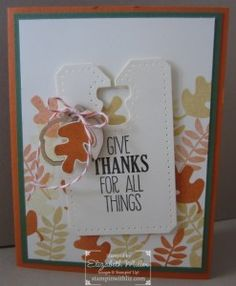 Stampin up Fall Fest stamp set card #stampinup #autumn #crafting