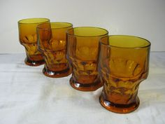 Vintage Anchor Hocking Georgian Glasses Set/4 by LavenderGardenCottag
