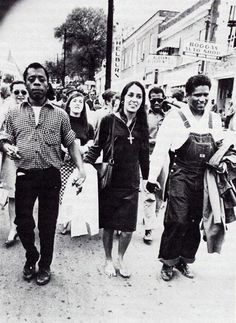 James Baldwin, Joan Baez and an unknown activist • Selma to Montgomery march
