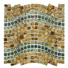 Merola Tile Tessera Wave Jupiter 12-1/4 in. x 11-3/4 in. Glass/Stone Mosaic Wall Tile