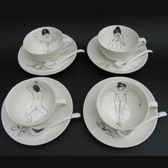 Bathing Girls Tea Set - Esther Hörchner