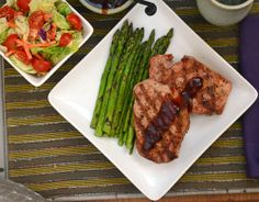 Grilled Butter Rum Injected Pork Chops - Used Captain Morgan's new dark spiced rum and these were delicious!
