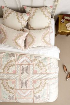 beds, ananda duvet, barrels, colors, duvet covers, bedroom design, hous, belle, anthropologie bedding
