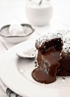 ... chocolate molten cake ...