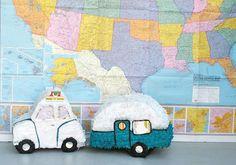 happi camper, trailer, pinata, camper piñata, party fun, diy mini, happy campers, parti, vintage campers