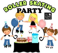Roller skating party!! birthday parti, paperpiec pattern, roller skate, parties, rollersk parti, skate parti, roller skating party, parti idea, 70s parti