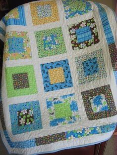 PDF Quilt Pattern Lap or Baby size....Quick and Easy by sweetjane