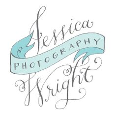 logo for Jessica Wright Photography - calligraphy by Holly Hollon