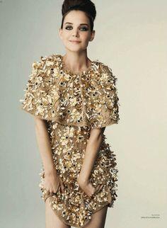 Katie Holmes in Dolce & Gabbana  for Harper's Bazaar Russia