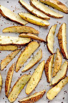 Baked Garlic Potato Wedges Recipe