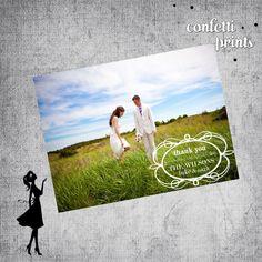 Printable Wedding Photo Thank You Card - PURE
