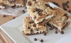 chocolate chip cookies + cheesecake...yes please!