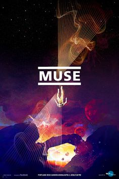 Slightly trippy gig poster for Muse, my favorite band, I think #WOWmusic